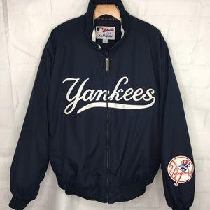 Majestic Full Zipper Yankees Jacket Navy Large